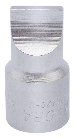 "3/8"" Square Drive Elora 3mm Plain Slot Screwdriver Socket"