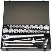 """3/4"""" Square Drive Metric and Imperial Socket Set (31 Piece)"""