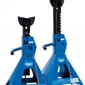 Pair of Pneumatic Rise Ratcheting Axle Stands (3 tonne)