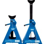 Pair of Pneumatic Rise Ratcheting Axle Stands (5 tonne)