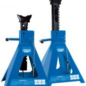 Pair of Pneumatic Rise Ratcheting Axle Stands (10 tonne)