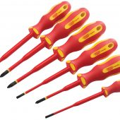 Ergo Plus® Slimline VDE Approved Fully Insulated Screwdrivers (6 Piece)