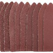 Ten 60 Grit Hook and Loop Finger Sander Sheets (67 x 67 x 22mm)