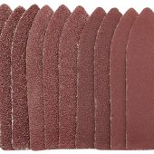 Ten Assorted Grit Hook and Loop Finger Sheets (67 x 67 x 22mm)