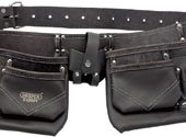 Oil-Tanned leather Double Pouch Tool Belt
