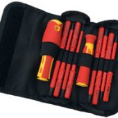 Ergo-Plus® VDE Approved Fully Insulated Interchangeable Blade Screwdriver Set (10 Piece)