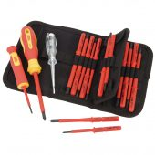 Ergo-Plus® VDE Approved Fully Insulated Interchangeable Blade Screwdriver Set (18 Piece)