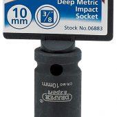 "Expert 10mm 3/8"" Square Drive Hi-Torq® 6 Point Deep Impact Socket"