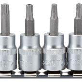 """Draper TX-STAR® Security Socket Bit Set, 3/8"""" Sq. Dr., 48mm (10 Piece)"""