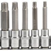 """Draper TX-STAR® Plus Socket Bit Set, 1/2"""" Sq. Dr., 100mm (7 Piece)"""