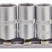 "1/4"" Sq. Dr. Metric socket on Metal Rail (10 Piece)"