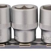 """3/8"""" Sq. Dr. Socket Set on Metal Rail (10 Piece)"""