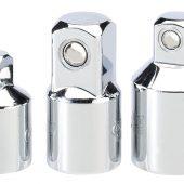 Socket Converter Set, Polished Chrome (3 Piece)