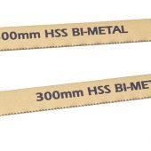 2 x 300mm 18tpi Bi-Metal Hacksaw Blades
