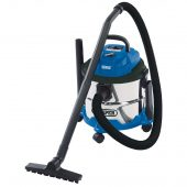 15L Wet and Dry Vacuum Cleaner with Stainless Steel Tank (1250W)