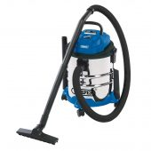 20L Wet and Dry Vacuum Cleaner with Stainless Steel Tank (1250W)