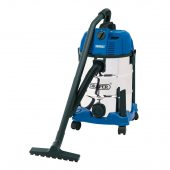 30L Wet and Dry Vacuum Cleaner with Stainless Steel Tank (1600W)