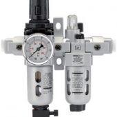 "1/4"" BSP Combined Filter/Regulator/Lubricator Unit (FRL)"