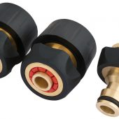 Brass and Rubber Hose Connector Set (3 Piece)