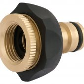 """Brass and Rubber Tap Connector (1/2"""" - 3/4"""")"""