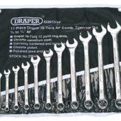 Draper Expert HI-TORQ® Imperial Combination Spanner Set (11 Piece)
