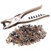 Interchangeable Hole Punch and Eyelet Pliers (210mm)
