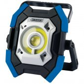 Twin COB LED Rechargeable Worklight, 5W & 10W, 1000 Lumens, Blue