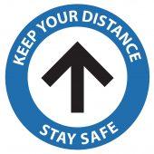 One-Way Social Distancing Floor Sticker