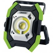 Twin COB LED Rechargeable Worklight, 5W & 10W, 1000 Lumens, Green