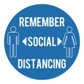 Social Distancing Wall Sticker