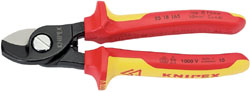Knipex 95 18 165UKSBE VDE Fully Insulated Cable Shears (165mm)