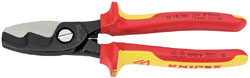 Knipex 95 18 200UKSBE VDE Fully Insulated Cable Shears (200mm)