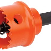 22mm Bi-Metal Hole Saw with Integrated Arbor