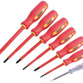 Fully Insulated Screwdriver Set with Mains Tester (7 Piece)