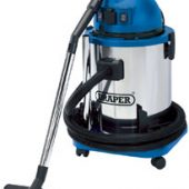 Wet & Dry Vacuum Cleaner with Stainless Steel Tank, 50L, 1400W & 230V Power Tool Socket
