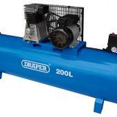 200L Stationary Belt-Driven Air Compressor (2.2kW)