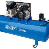 Belt-Driven Air Compressor, 200L, 2.2kW