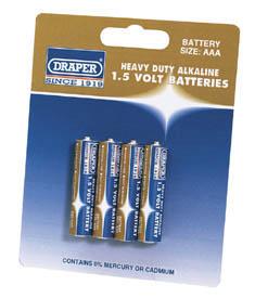 Heavy Duty Alkaline Batteries AAA (4-Pack)