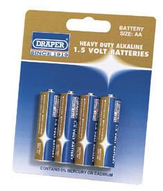 Heavy Duty Alkaline Batteries AA (4-Pack)