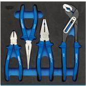 Heavy Duty Plier Set in 1/2 Drawer EVA Insert Tray (4 Piece)