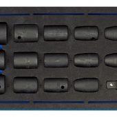 "1/2"" Sq. Dr. Impact Socket Set in 1/4 Drawer EVA Insert Tray (15 Piece)"