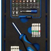 Screwdriver Insert Bits and Driver in 1/4 Drawer EVA Insert Tray (40 Piece)