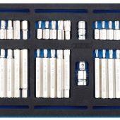 Screwdriver Insert Bit Set in 1/4 Drawer EVA Insert Tray (40 Piece)