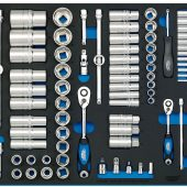 """1/4"""", 3/8"""", and 1/2"""" Socket Set in Full Plus Drawer EVA Insert Tray (96 Piece)"""