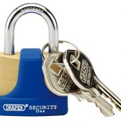 32mm Solid Brass Padlock and 2 Keys with Hardened Steel Shackle and Bumper