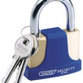 52mm Solid Brass Padlock and 2 Keys with Hardened Steel Shackle and Bumper