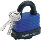 54mm Laminated Steel Padlock and 2 Keys with Hardened Steel Shackle and Bumper