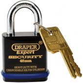 46mm Heavy Duty Padlock and 2 Keys with Super Tough Molybdenum Steel Shackle