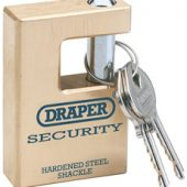 63mm Quality Close Shackle Solid Brass Padlock and 2 Keys with Hardened Steel Shackle