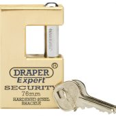 76mm Quality Close Shackle Solid Brass Padlock and 2 Keys with Hardened Steel Shackle
